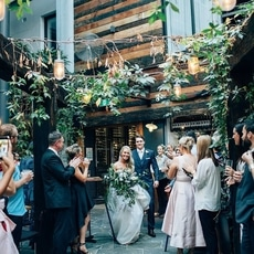 The Lucky Hotel Outdoor Wedding Ceremony Newcastle