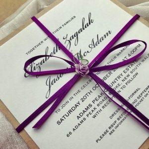 Paper and Stuff Wedding Invitations Coorangbong NSW