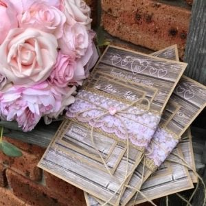 Vintage La Belle Wedding Invites Charlestown NSW