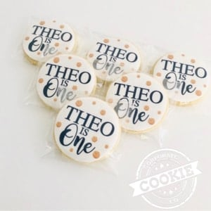 Corporate Cookie Co wedding favours Belmont North NSW